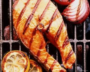 лососина на гриле