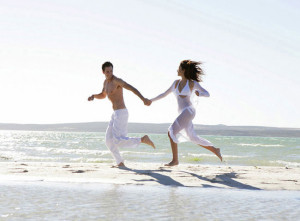 Бег по пляжу
