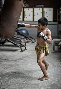 Дети в тайском боксе