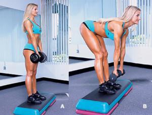 Становая тяга на прямых ногах