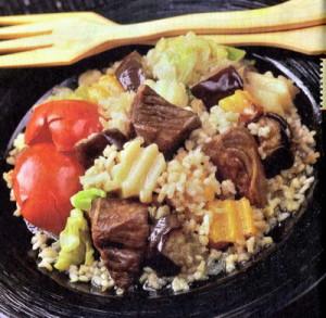 Тушеная говядина с рисом