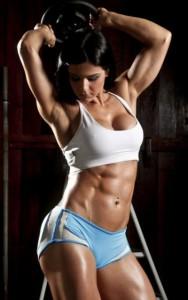 фитнес модели - мышцы пресса