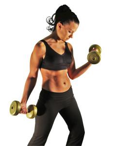 Фитнес - упражнение с гантелями