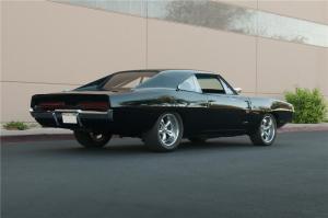 Dodge Charger 1969 вид сзади