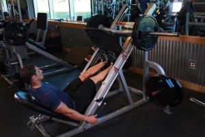 Подъём на носки в тренажёре для жима ногами