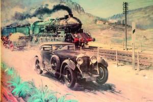 гонка с поездом 1930