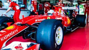 Ferrari - тест шин